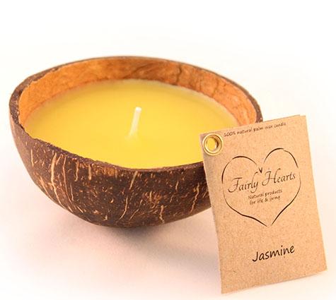 jasmijn kokosnoot geurkaars