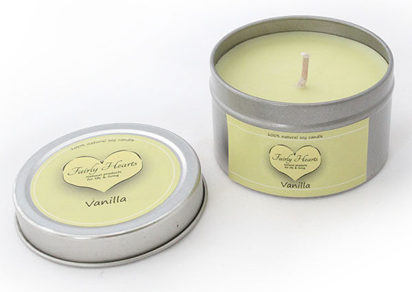 lekkere geurkaars van vanille
